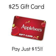 applebee s gift cards 25 applebee s gift card just 15