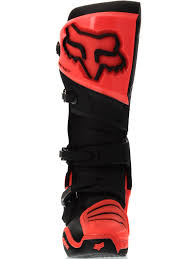 hinged motocross boots fox black orange 2017 instinct mx boot fox freestylextreme
