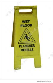 Wet Floor Images by Bilingual Wet Floor Sign Picture