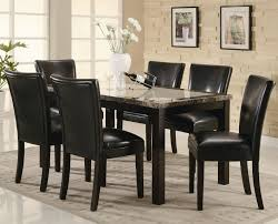 Black Dining Room Set White Wood Dining Set 6 Pc Britney Square White Marble Dining