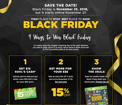 black friday store coupons kohl u0027s black friday 2016 sale is live online u2014 what are the best