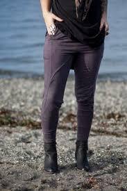 Upcycle Leggings - distressed armor sweater blackest black stone crow designs