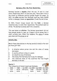 germany after ww1 worksheet gcse study guide
