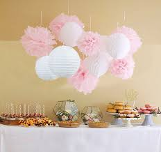 Wedding Shower Decorations by Amazon Com Qian U0027s Party 12pcs White Pink Pom Pom Flower Tissue