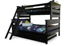 Black Bunk Beds Casual Youth Bunk Bed In Black Cherry Mathis