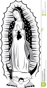 black and white virgin of guadalupe stock image image 23861021