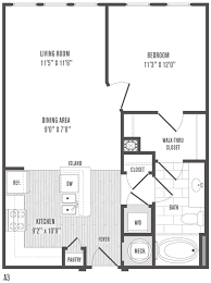 1 Bedroom Floor Plans 1 2 And 3 Bedroom Floor Plans U0026 Pricing Jefferson Square Apartments