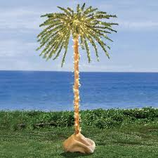 furniture outdoor lighted palm tree decorations lighting