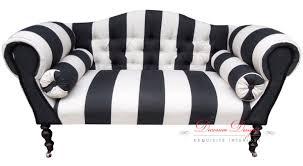 Black And White Sofas by Gorgeous Gorgeous Black U0026 White Warick Devon Striped Button Back