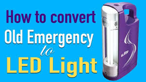 how to convert to led lights how to convert old emergency to led lights youtube