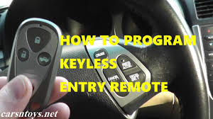 how to program keyless entry remote key fob for acura tl youtube