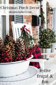 festive frugal porch decor on sutton place