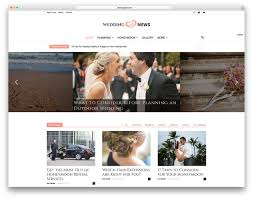 Wedding Magazine Template 20 Best Wordpress Wedding Events U0026 Marriage Themes 2017 Colorlib