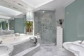 Luxury Master Bath With Tub White Marble Shower Enclosure In - Luxury bathroom designers