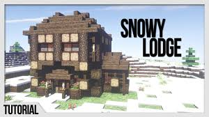 Winter Houses Winter Cabin Minecraft Building Tutorial How To Build Stuff