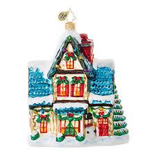christopher radko ornaments radko cottages houses winter
