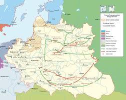 Moscow On Map Map Polish Lithuanian War Vs Moscow 1654 1667 Polish Hussars