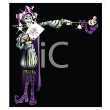 mardi gras joker royalty free clipart image purple and silver joker or jester for