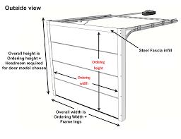 Single Garage Dimensions Measuring Sectional Garage Doors Sizing Guide In Between Inside