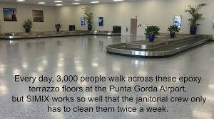 epoxy terrazzo floors at the punta gorda airport youtube