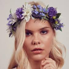 headband flowers violet floral meadow crown headband rock n