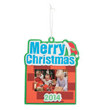2014 2015 merry christmas picture frame ornament craft kit