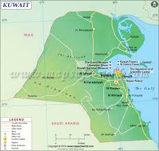 Political Map Of The Middle East by Kuwait Map Map Of Kuwait