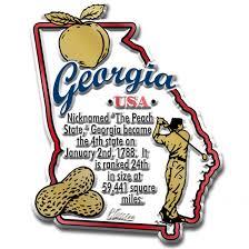 Georgia Map Usa Georgia Map Magnet Classicmagnets Com