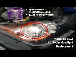 how to replace mazda 3 headlights in under 3 minutes for 7 bulb