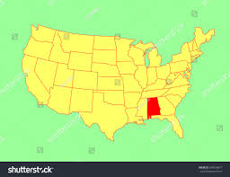 Map Of United States Vector by Alabama State Usa Vector Map Isolated Stock Vector 304534877