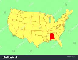 map usa alabama alabama state usa vector map isolated stock vector 304534877