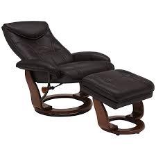 oliver dk brown bonded ltr recliner and ottoman