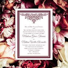 wedding invitations burgundy burgundy wedding invitations printable