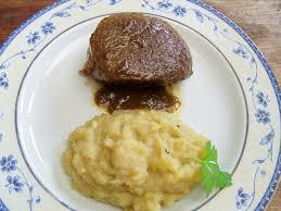 cuisiner paleron pavé de paleron basse température écrasée de pomme de terre au