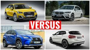2016 lexus suv youtube audi q2 vs bmw x1 vs lexus nx vs mercedes gla youtube