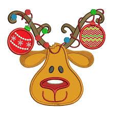 christmas applique nose reindeer christmas applique machine embroidery digitized