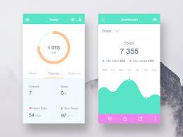 design application ios ui design in health fitness apps inspiration supply medium