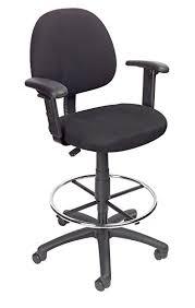 Adjustable Drafting Chair Amazon Com Boss Office Products B1616 Bk Ergonomic Works Drafting