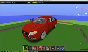 minecraft working car lada vesta car minecraft model looking for feedback creative