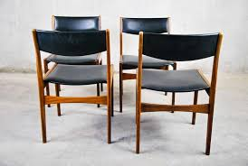1960 Danish Modern Furniture by Set Of Four 1960 Danish Modern Dining Chairs By Poul Volther For