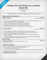 technical resume exles free computer technician resume exle resumecompanion