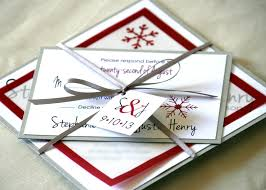 Red And Silver Wedding Winter Wedding Red White Silver Invitations