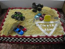 monster truck show phoenix monster jam birthday cake party hardy monster jam grave digger