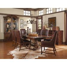 Trestle Dining Room Table A R T Furniture 205221 2304 Whiskey Oak Trestle Dining Table