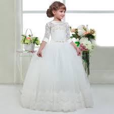 elegant first communion dresses for girls kids white graduation