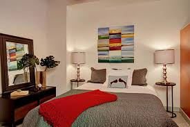 Red Table Lamps For Living Room by Apt Bedroom Ideas On Great Best Apartment Using Bed Between Table