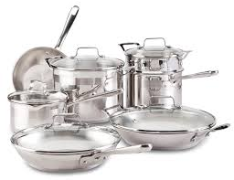 emeril by all clad e884sc chef u0027s stainless steel cookware set 12