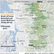 Cascade Mountains Map A Historic Adventure Snoqualmie Pass To Canada In 34 Days U2014 On