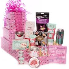 Pamper Gift Basket Tower Gift Birthday Tower Of Treats Pamper Chocolate Tower Gifts