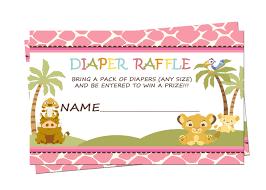 nala simba lion king baby shower raffle tickets diaper raffle